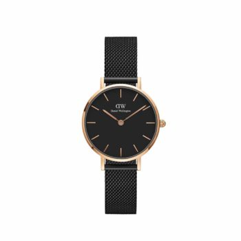 Daniel Wellington Petite Ashfield Black Rose Gold Stainless Steel Bracelet Dw00100245
