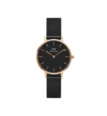 Daniel Wellington Petite Ashfield Black & Rose Gold Stainless Steel Bracelet DW00100245