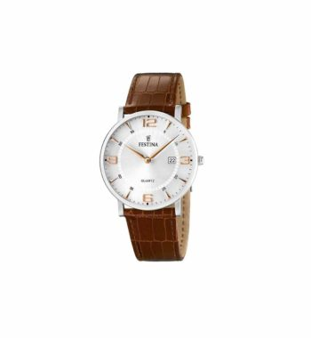 Festina Men's Classic Brown Leather Strap Watch F16476 4