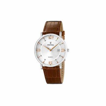 Festina Men's Classic Brown Leather Strap Men's Watch – F16476/4