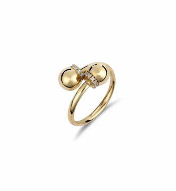 Δαχτυλίδι Μοντέρνο Ροζέτα Χρυσό Με Ζιργκόν 002465