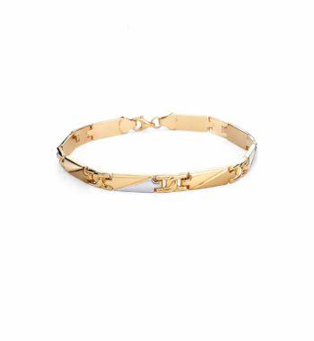 Βραχιόλι Χρυσό & Λευκόχρυσο 002509