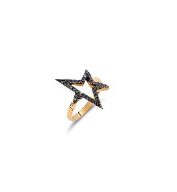 Δαχτυλίδι Αστέρι Χρυσό Με Ζιργκόν 002515