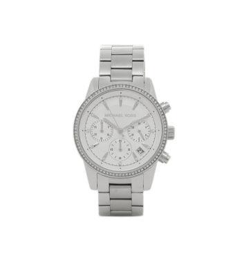 Michael Kors Silver Ritz Chrono Women's Watch ΜΚ6428