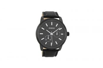 OOZOO Black Leather Strap Men's Watch C8579