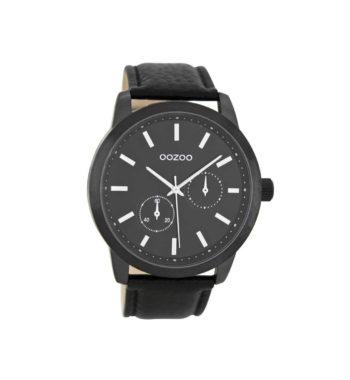 OOZOO Black Leather Strap Men's Watch C8579