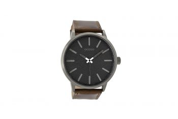 OOZOO Timepieces Brown Leather Strap Men's Watch C9027