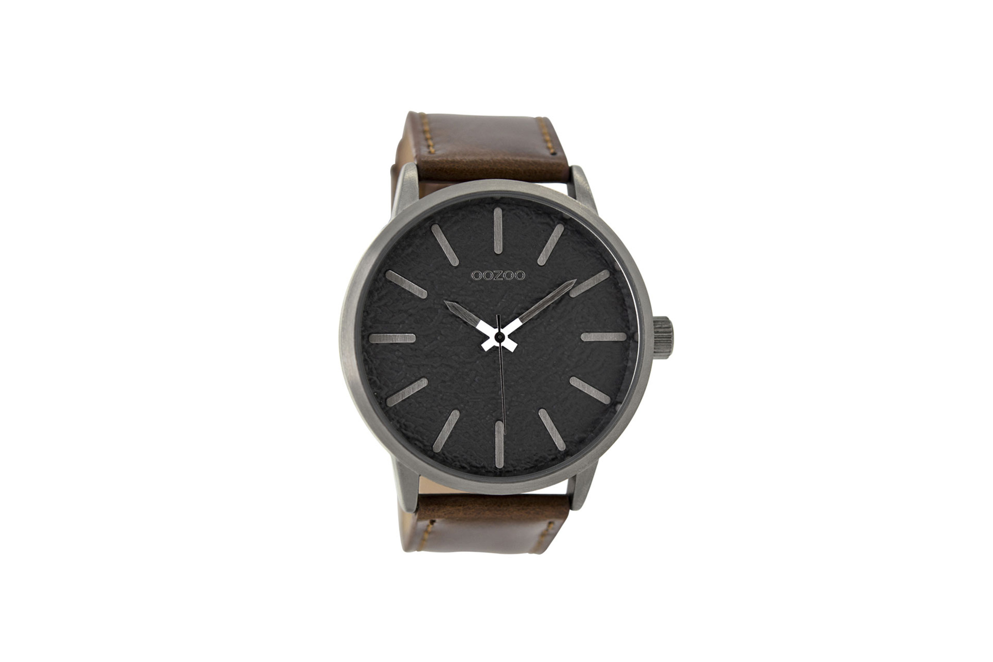 OOZOO Timepieces Brown Leather Strap Men s Watch – Jewelor ac217950f98