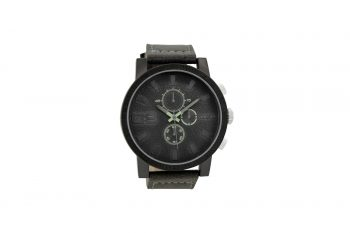 OOZOO Timepieces Dark Grey Leather Strap Men's Watch C9031