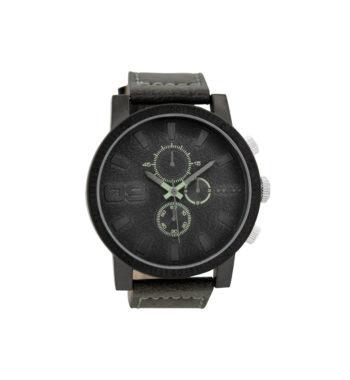 OOZOO Timepieces Dark Grey Leather Strap Men's Watch C9031