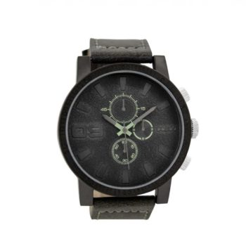 Oozoo Timepieces Dark Grey Leather Strap Mens Watch C9031 E1554317108765