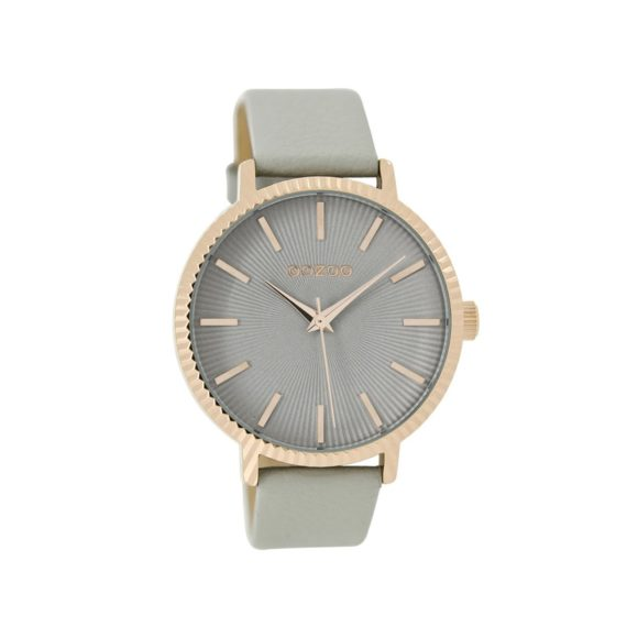 OOZOO Timepieces Grey Leather Strap Women's Watch C9195