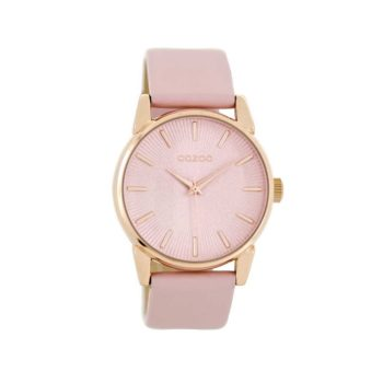 OOZOO Timepieces Pink Leather Women's Watch C8676