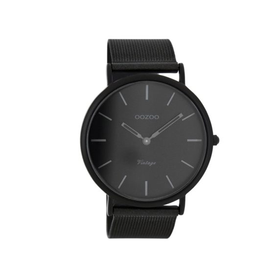 OOZOO Τimepieces Vintage Black Metalic Bracelet Unisex Watch C7722