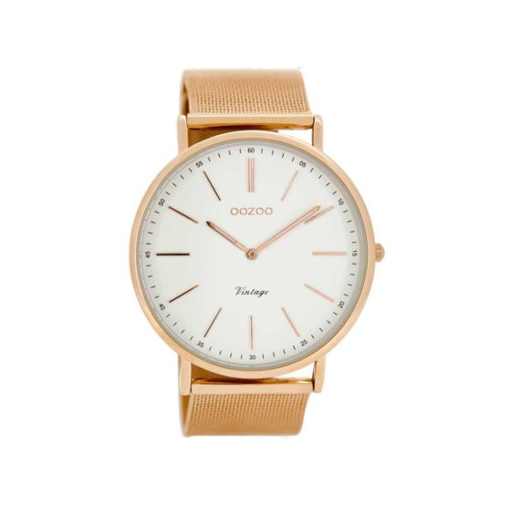 OOZOO Τimepieces Vintage Rose Gold Metalic Women's Watch C8177