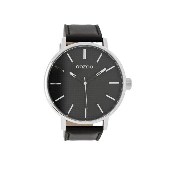 OOZOO Timepieces XXL Black Leather Strap Men's Watch C9004