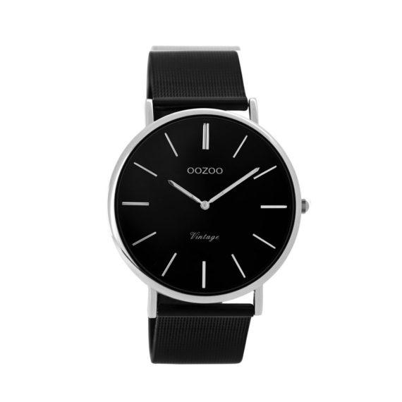 OOZOO Vintage Black Metallic Bracelet Unisex Watch C8865