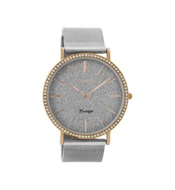 OOZOO Vintage Crystals Silver Bracelet Women's Watch C8892