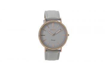 OOZOO Vintage Grey Leather Strap Women's Watch C8885