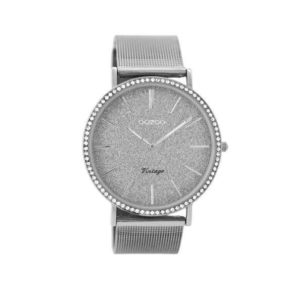OOZOO Vintage Silver Metallic Mesh Bracelet Women's Watch C8891