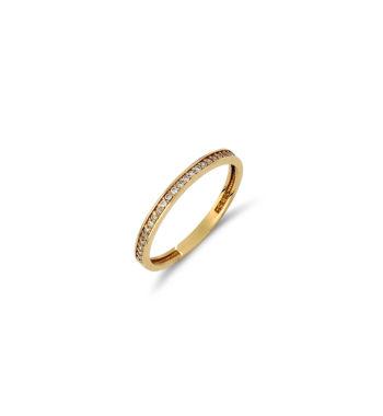 Δαχτυλίδι Σειρέ Χρυσό Με Ζιργκόν 002545