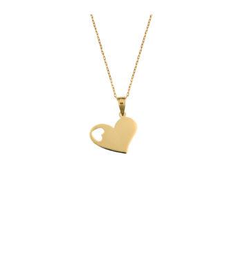Κρεμαστό Καρδιά Χρυσό Με Τρύπα 002596