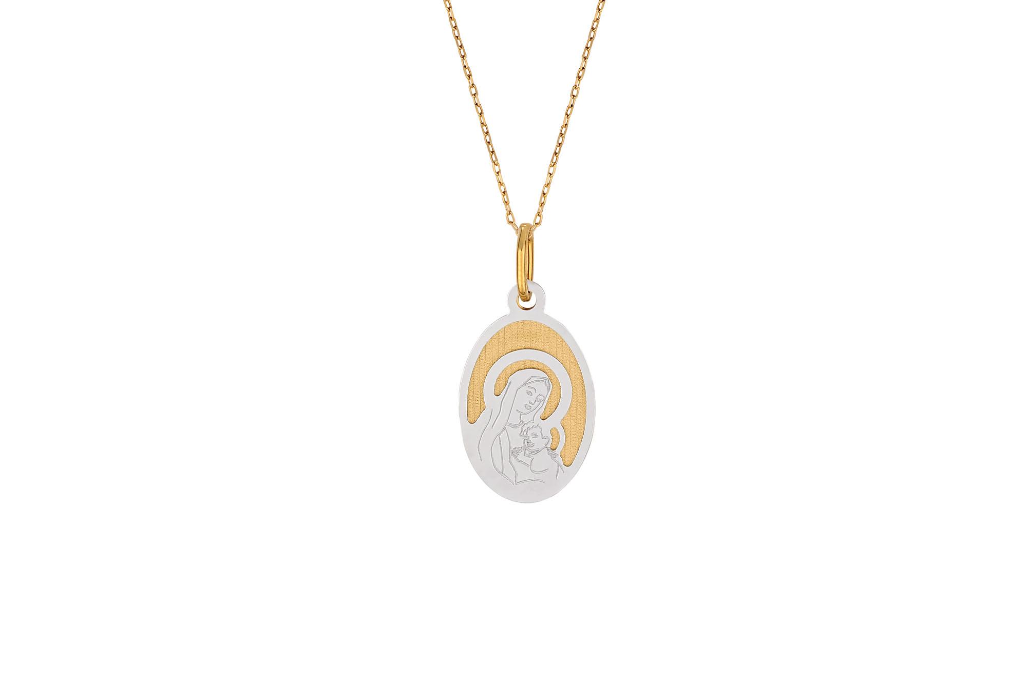 Φυλαχτό-Παναγία Χρυσό Και Λευκόχρυσο – Jewelor eb8b57cd1b9