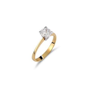 Μονόπετρο Δαχτυλίδι Χρυσό Με Ζιργκόν 002536