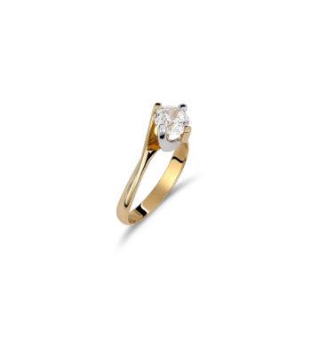 Μονόπετρο Δαχτυλίδι Χρυσό Με Ζιργκόν 002539