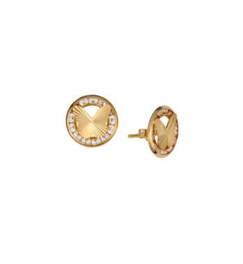 Σκουλαρίκι Πεταλούδα Καρφωτό Χρυσό Με Ζιργκόν 002561