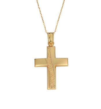 Σταυρός Πομπέ Σφυρήλατος Χρυσός 002579