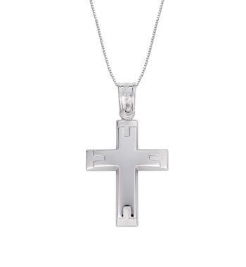 Σταυρός Σκαλιστός Λευκόχρυσος 002594