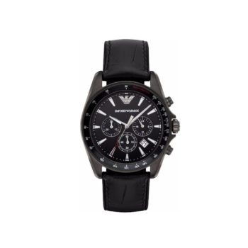 Emporio Armani Sigma Black Chronograph Men's Watch