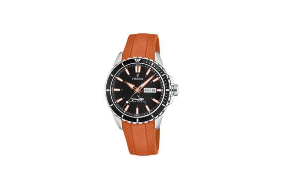 Festina Brown Rubber Strap Men's Watch F20378 5