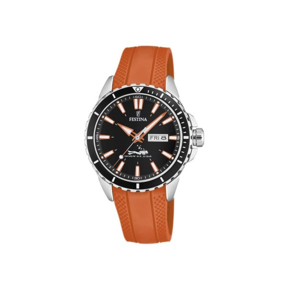 Festina Brown Rubber Strap Men's Watch F20378 5
