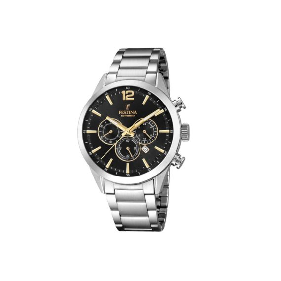 Festina Silver Gold Chronograph Men's Watch F20343 4