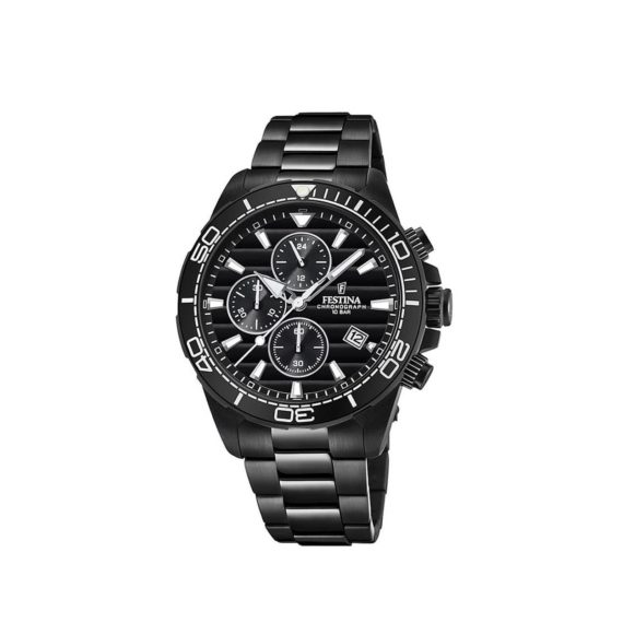 Festina Black Stainless Steel Chronograph Mens Watch F20365 3 E1554315207416