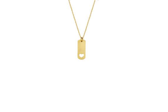 Κρεμαστό Καρδιά Χρυσό Διάτρητο 002688