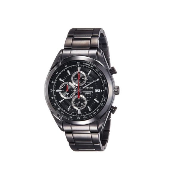 Seiko Dress Chronograph Black Mens Watch Ssb179p1 E1554315239920