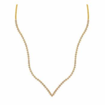 Κρεμαστό Κυματοειδές Χρυσό Με Ζιργκόν 002699