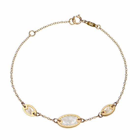 Βραχιόλι Αλυσίδα Χρυσό Με Φίλντισι 002711
