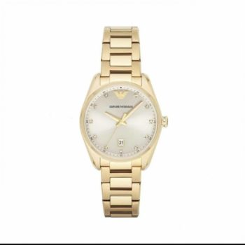 Emporio Armani Classic Champagne Dial Women's Watch – AR6064