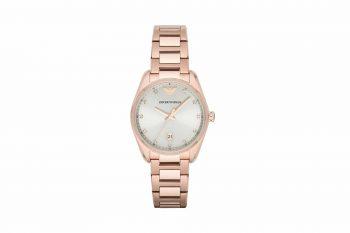 Emporio Armani Classic Silver Dial Women's Watch AR6065