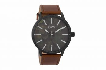 OOZOO Timepieces Black & Brown Militaire Men's Watch C9601