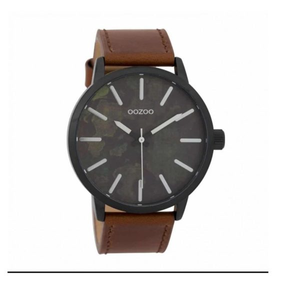 Oozoo Timepieces Black Brown Militaire Mens Watch C9601 E1554315085146