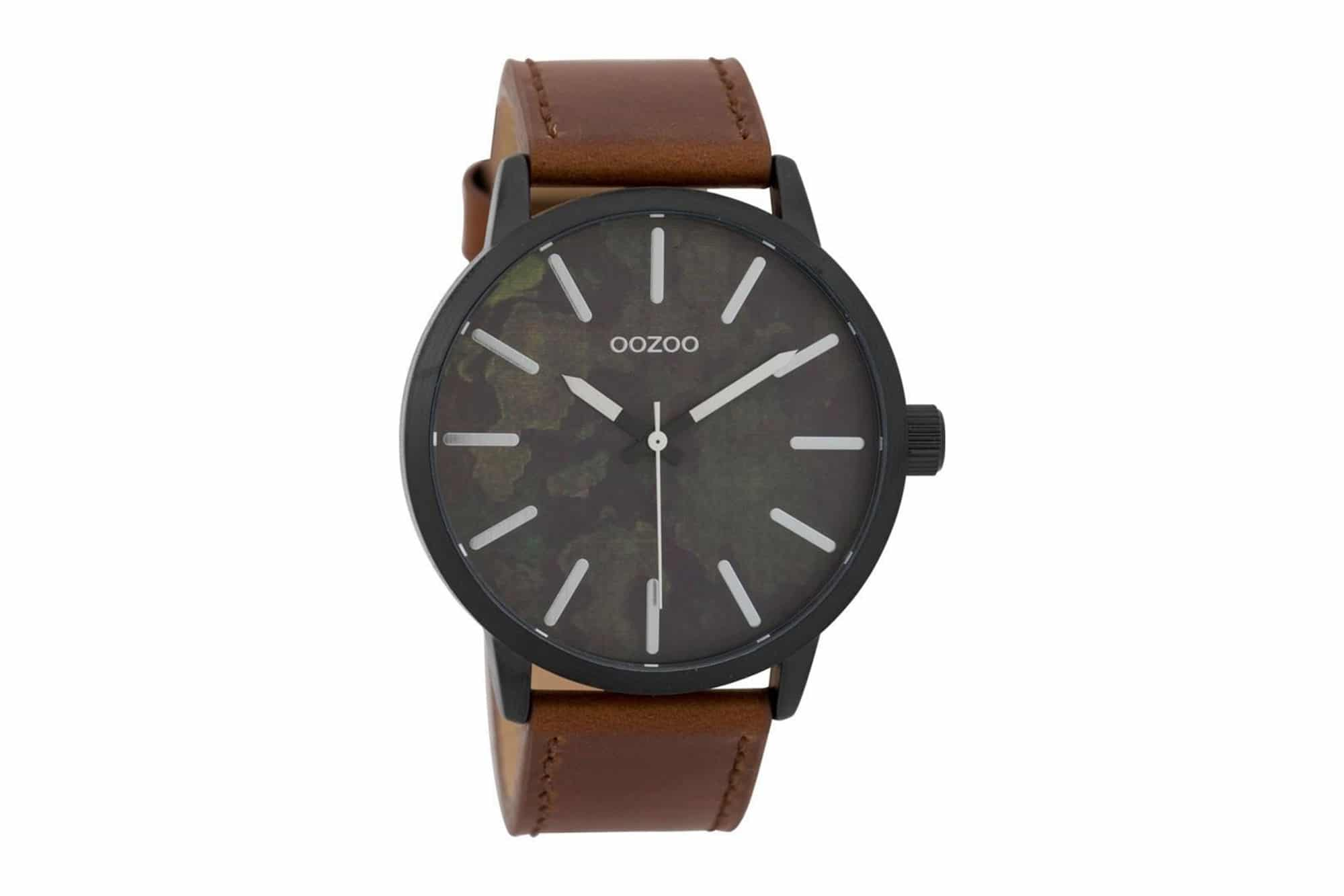 OOZOO Timepieces Black   Brown Militaire Men s Watch – Jewelor 39180bc5aaa