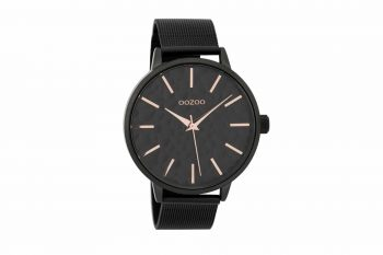 OOZOO Timepieces Black Unisex Watch C9574