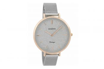 OOZOO Timepieces Vintage Rose Gold & Silver Women's Watch C9376