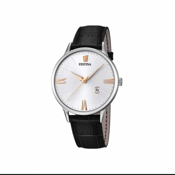 Festina Black Leather Strap Men's Watch F16824 2