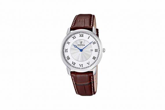 Festina Brown Leather Strap Men's Watch F6813 5